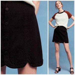 Paige Button Front Francesca Scallop Hem Skirt